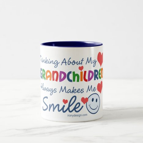 I Love My Grandchildren Two-Tone Coffee Mug