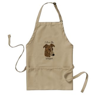 I Love My Whippet Apron