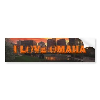 I Love Omaha Bumper Sticker bumpersticker