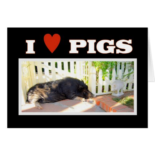 I love Pigs card