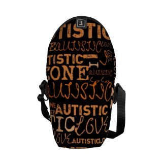 I Love Someone With Autism bag Courier Bags