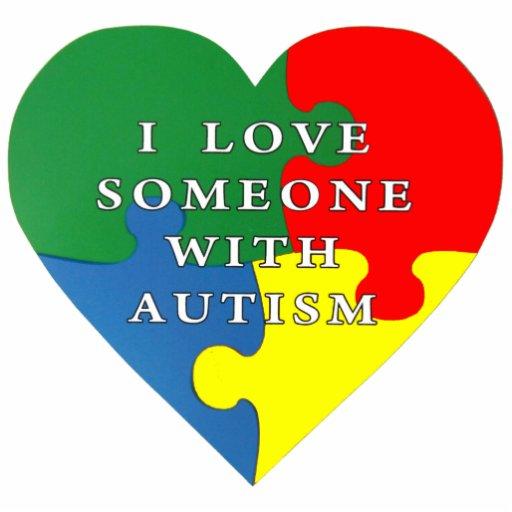 Download I love someone with Autism Statuette   Zazzle