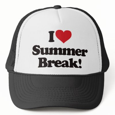 summer break trucker hat
