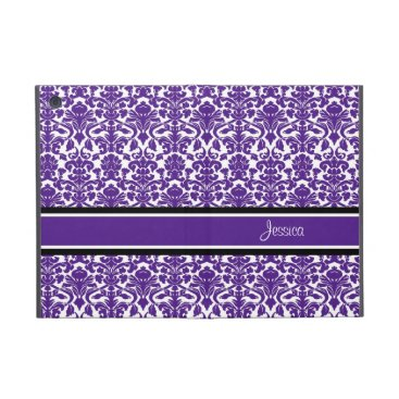 i Pad Mini Violet Damask Custom Name iPad Mini Case