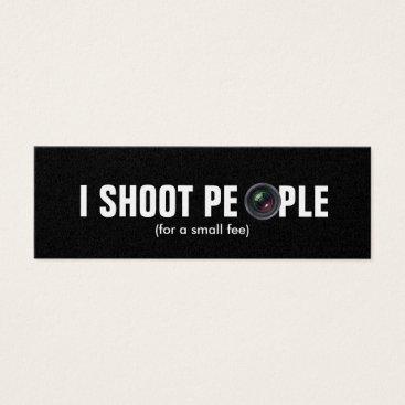 I shoot people - Metallic Paper (photography) Mini Business Card