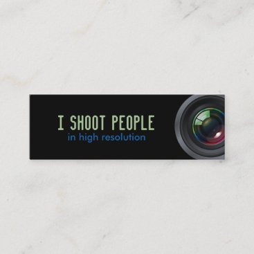 I shoot people mini business card