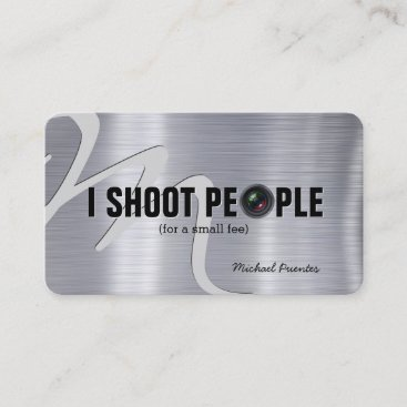 I shoot people - Photography Business Card