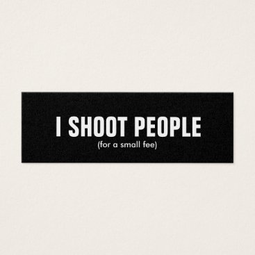 I shoot people - Professional Photographer (gold) Mini Business Card