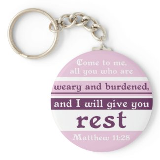 I Will Give You Rest keychain
