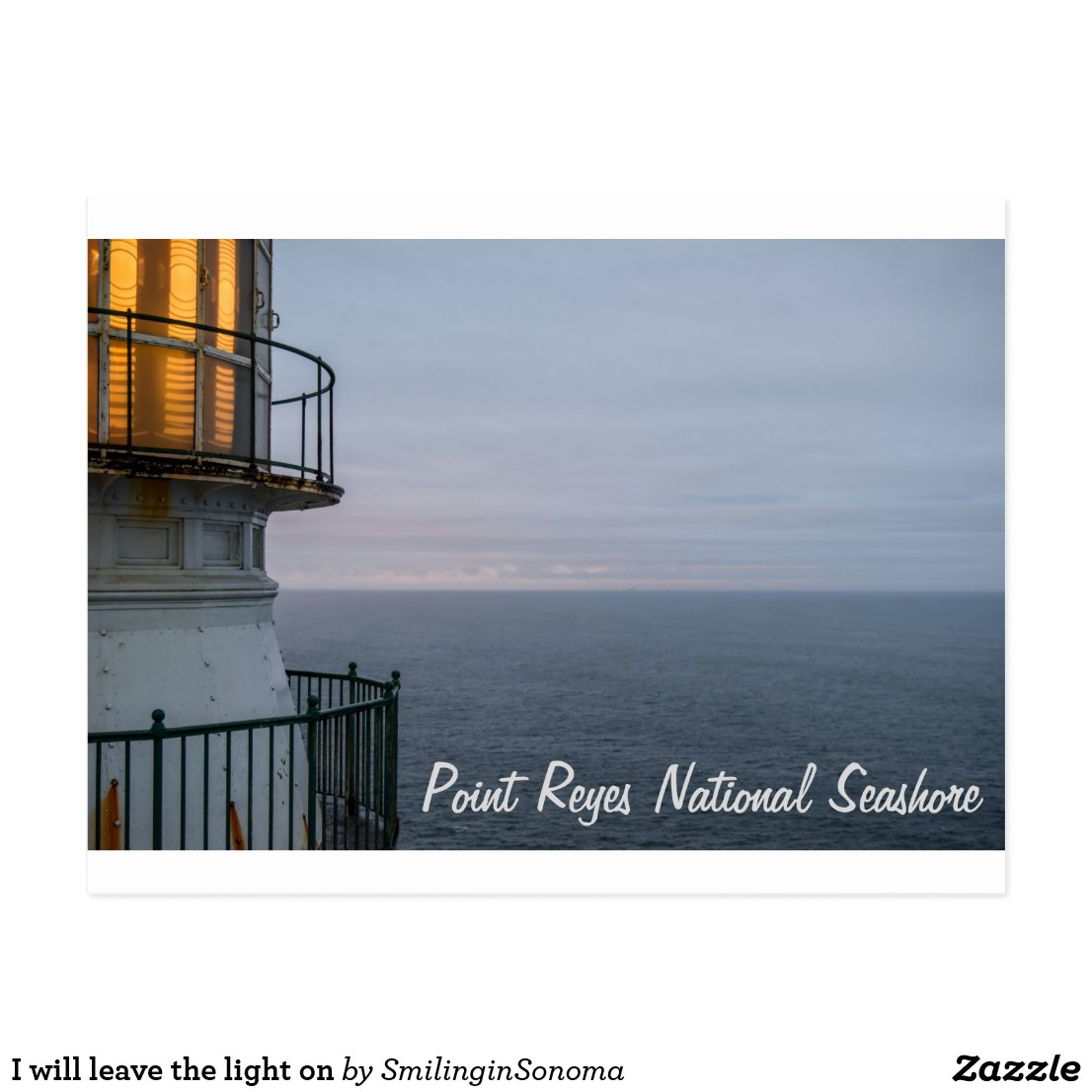 I will leave the light on postcard