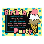 ❤️ Ice Cream Cone Party Invitation