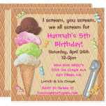 ❤️ Ice Cream Party Invitation Celebration