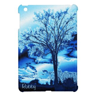 Iced Blue Tree iPad Mini Case *Personalize*