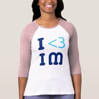 IheartIM 2ptO mn pink raglan shirt