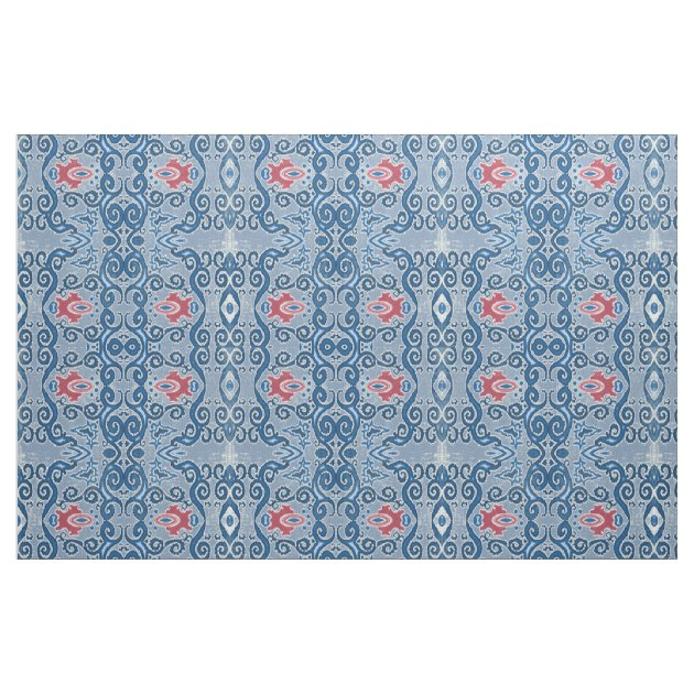 IKAT Pattern Gypsy Boho Bohemian Trendy Vintage Fabric ...