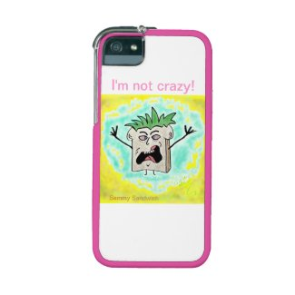 """""""I'm not crazy"""" Graft iPhone 5/S5 Protective Case Cover For iPhone 5/5S"""