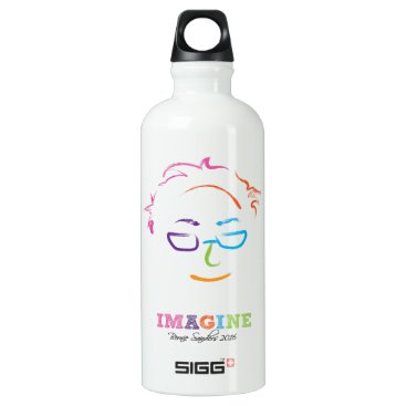 Imagine Bernie Sanders 2016 - brush art Aluminum Water Bottle