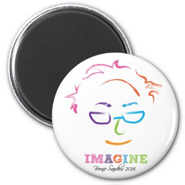 Imagine Bernie Sanders 2016 - brushstrokes Magnet