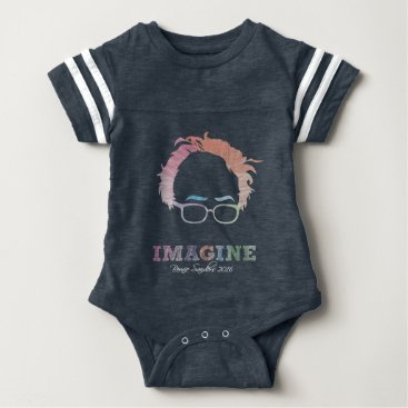 Imagine Bernie Sanders 2016 - watercolors Baby Bodysuit