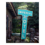 Imperial Hotel Sign, Cripple Creek, Colorado Poster