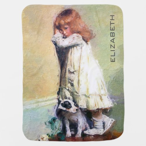 In Disgrace Vintage Oil Painting Personalized Baby Blanket