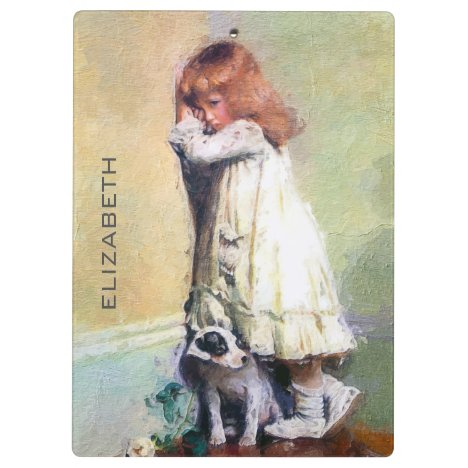 In Disgrace Vintage Oil Painting Personalized Clipboard