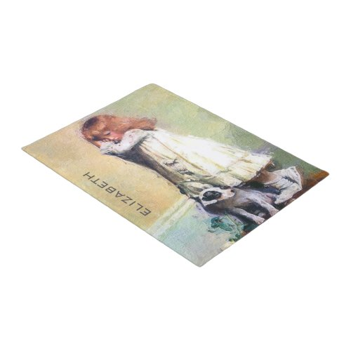 In Disgrace Vintage Oil Painting Personalized Doormat