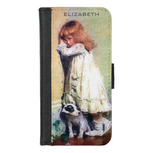 In Disgrace Vintage Oil Painting Personalized iPhone 8/7 Wallet Case