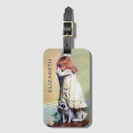 In Disgrace Vintage Oil Painting Personalized Luggage Tag