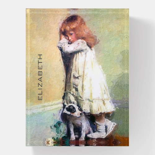 In Disgrace Vintage Oil Painting Personalized Paperweight