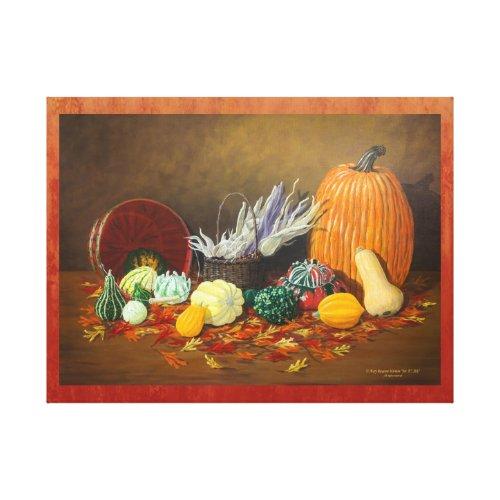 """In Season"" Fine Art Still Life Celebrating Fall Canvas Print"