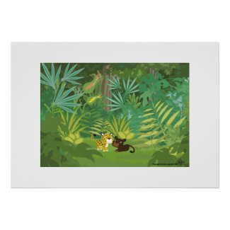 In the Jungle print
