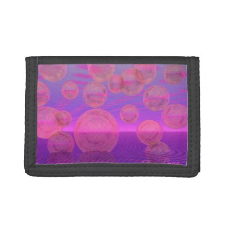In the Zone, Abstract Rose & Amethyst Voyage Tri-fold Wallet