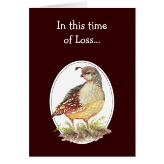 In this Time of Loss, Scripture Comfort Quail Bird