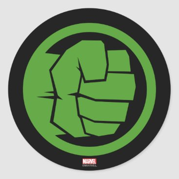 Incredible Hulk Logo Classic Round Sticker