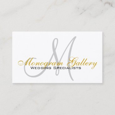 Indestructible Monogram Custom Business Cards