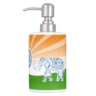 indian flag bath accessory sets | zazzle