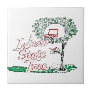 Indiana high school basketball small square tile