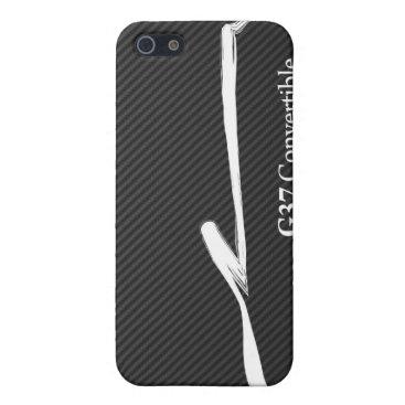 Infiniti G37 Convertible White Brush Stroke Logo Cover For iPhone SE/5/5s
