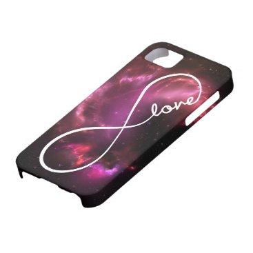 infinity love - pink nebula iPhone SE/5/5s case