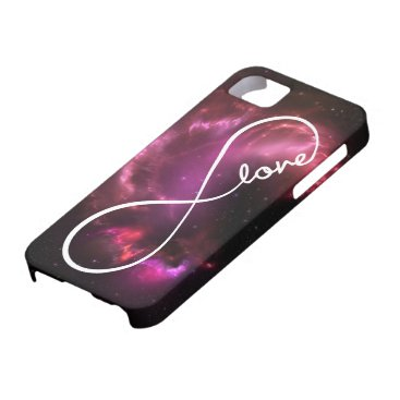 infinity love - pink nebula iPhone SE/5/5s case