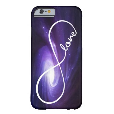 Infinity Love with Purple Nebula Barely There iPhone 6 Case