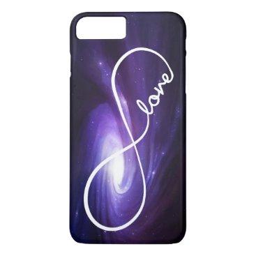 Infinity Love with Purple Nebula iPhone 7 Plus Case