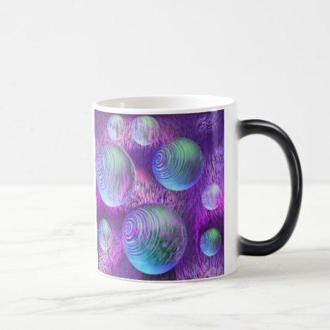 Inner Flow II - Abstract Indigo & Lavender Galaxy Magic Mug