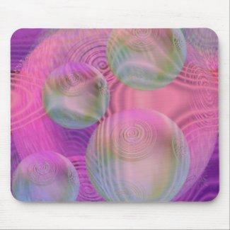 Inner Flow III – Fuchsia & Violet Galaxy mousepad