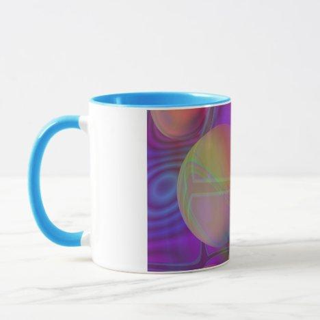 Inner Flow V Abstract Fractal Violet Indigo Galaxy Mug