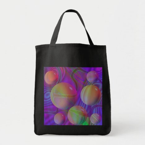 Inner Flow V Abstract Fractal Violet Indigo Galaxy Tote Bag