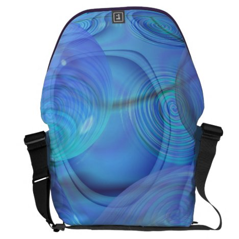 Inner Flow VI – Aqua & Azure Galaxy Large Courier Bag