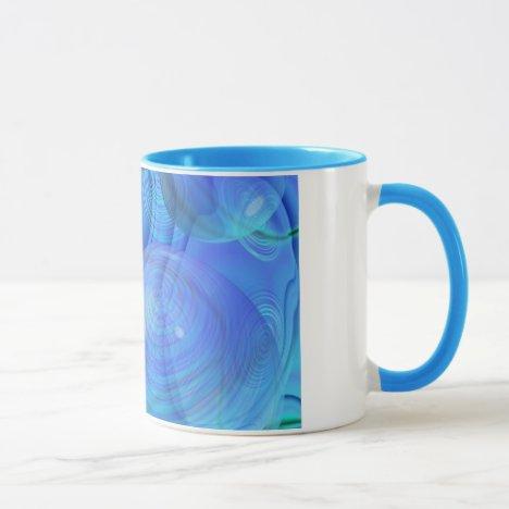 Inner Flow VI – Aqua & Azure Galaxy Mug