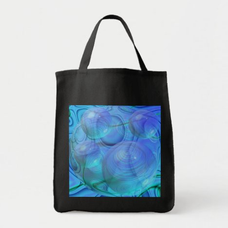 Inner Flow VI – Aqua & Azure Galaxy Tote Bag